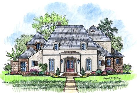 Bourbon street acadiana home design for Acadiana home design