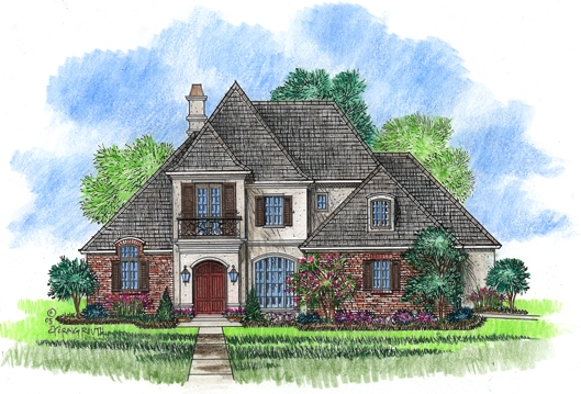 Acadiana home design country french house plans for Acadiana home builders