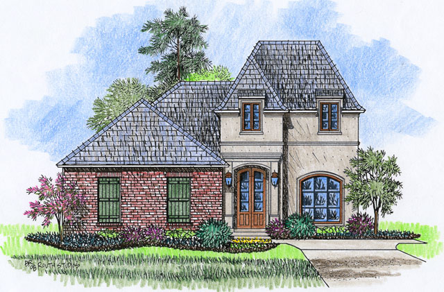 Bergerac acadiana home design for Acadiana homes