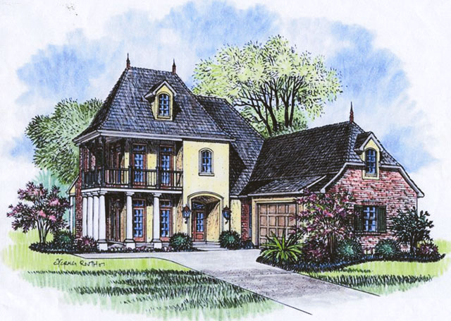 Acadiana home design country french house plans for Acadiana homes