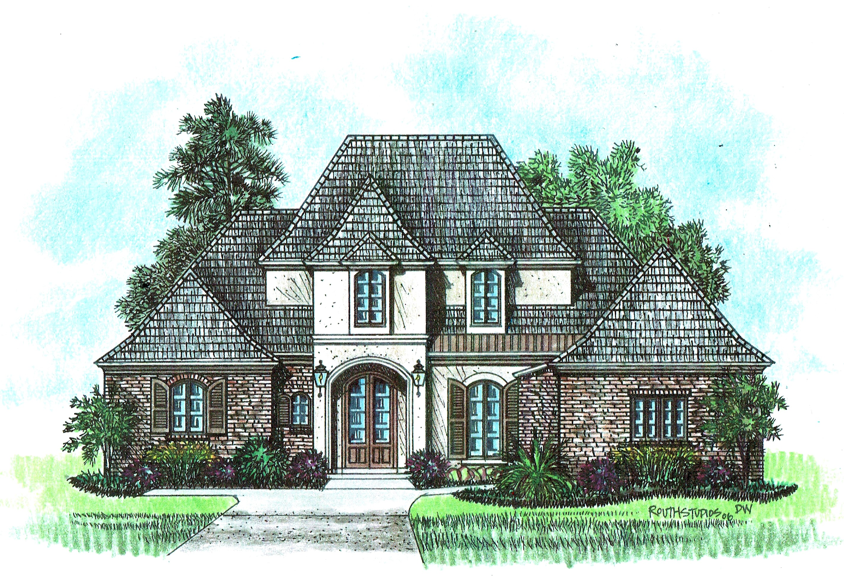 Fountainbleau acadiana home design for Acadiana homes